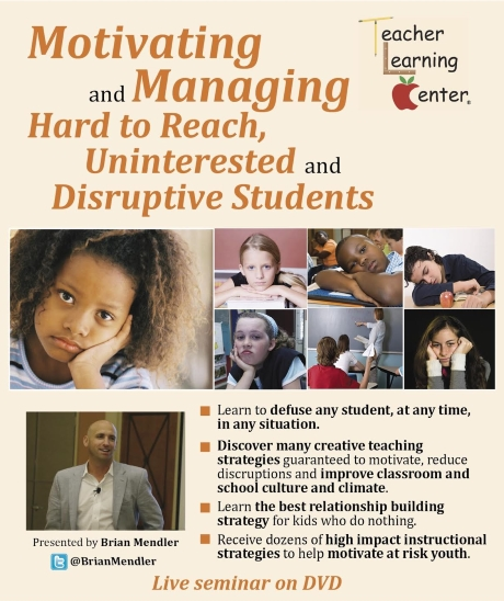 Video Motivating and managing hard to reach Untintersted and disruptive students